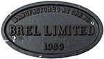 Worksplate BREL LIMITED MANUFACTURED AT CREWE 1989 - select image 1