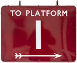 BR(M) FF Enamel Railway Sign TO PLATFORM 1 With - select image 1