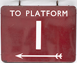 BR(M) FF Enamel Railway Sign TO PLATFORM 1 With - select image 2