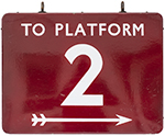 BR(M) FF Enamel Railway Sign TO PLATFORM 2 With - select image 1