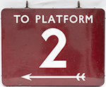 BR(M) FF Enamel Railway Sign TO PLATFORM 2 With - select image 2