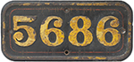 GWR Cast Iron Cabside Numberplate 5686 Ex Collett - select image 1