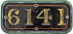 GWR Cast Iron Cabside Numberplate 6141 Ex Collett - select image 1