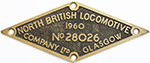 Worksplate NORTH BRITISH LOCOMOTIVE COMPANY LTD - select image 1