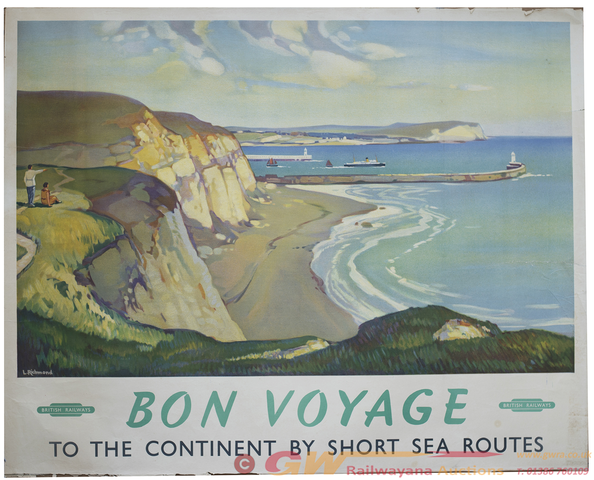 Poster BR(S) BON VOYAGE By Leonard Richmond. Quad