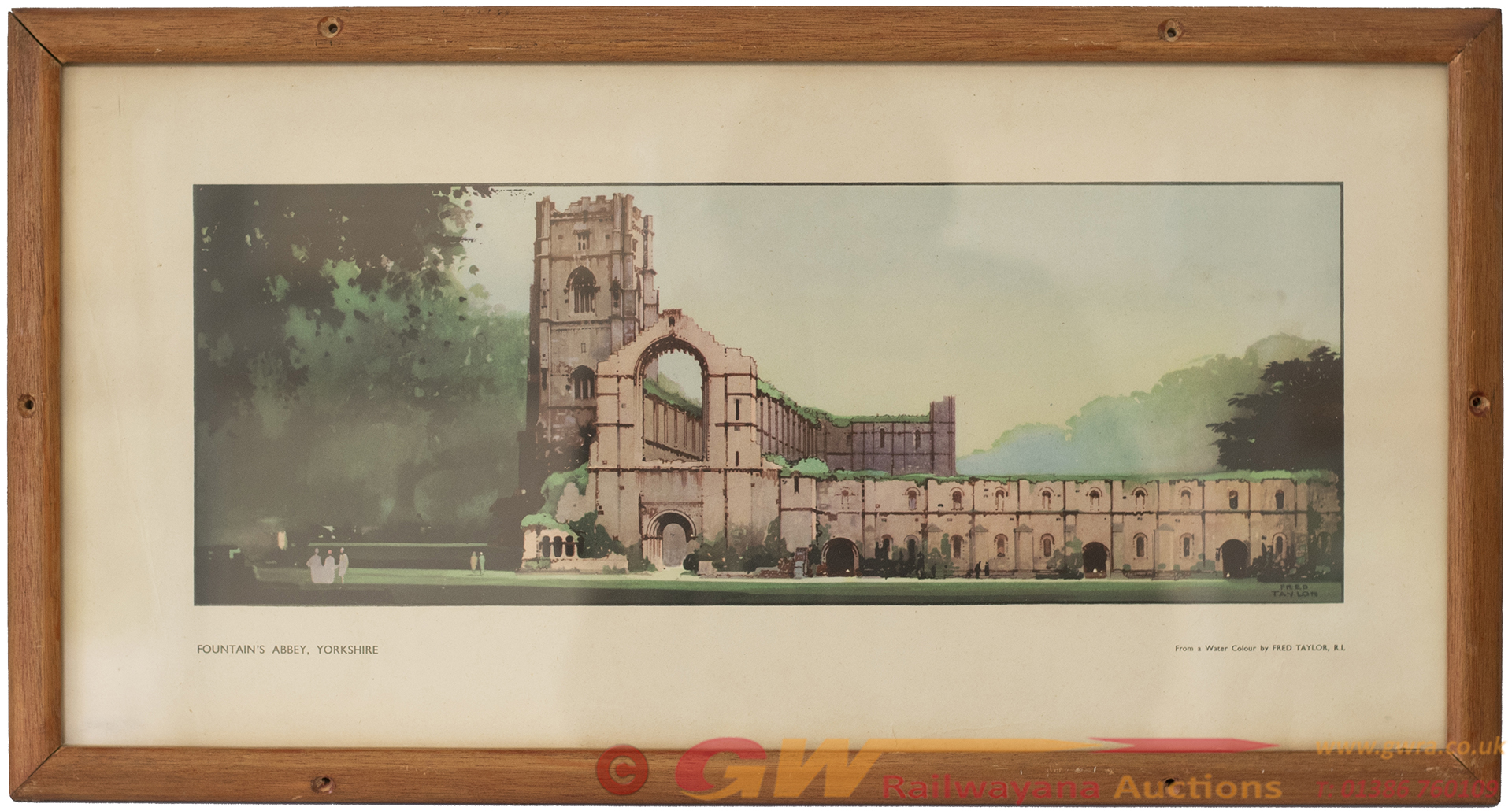 Carriage Print FOUNTAIN'S ABBEY, YORKSHIRE From An