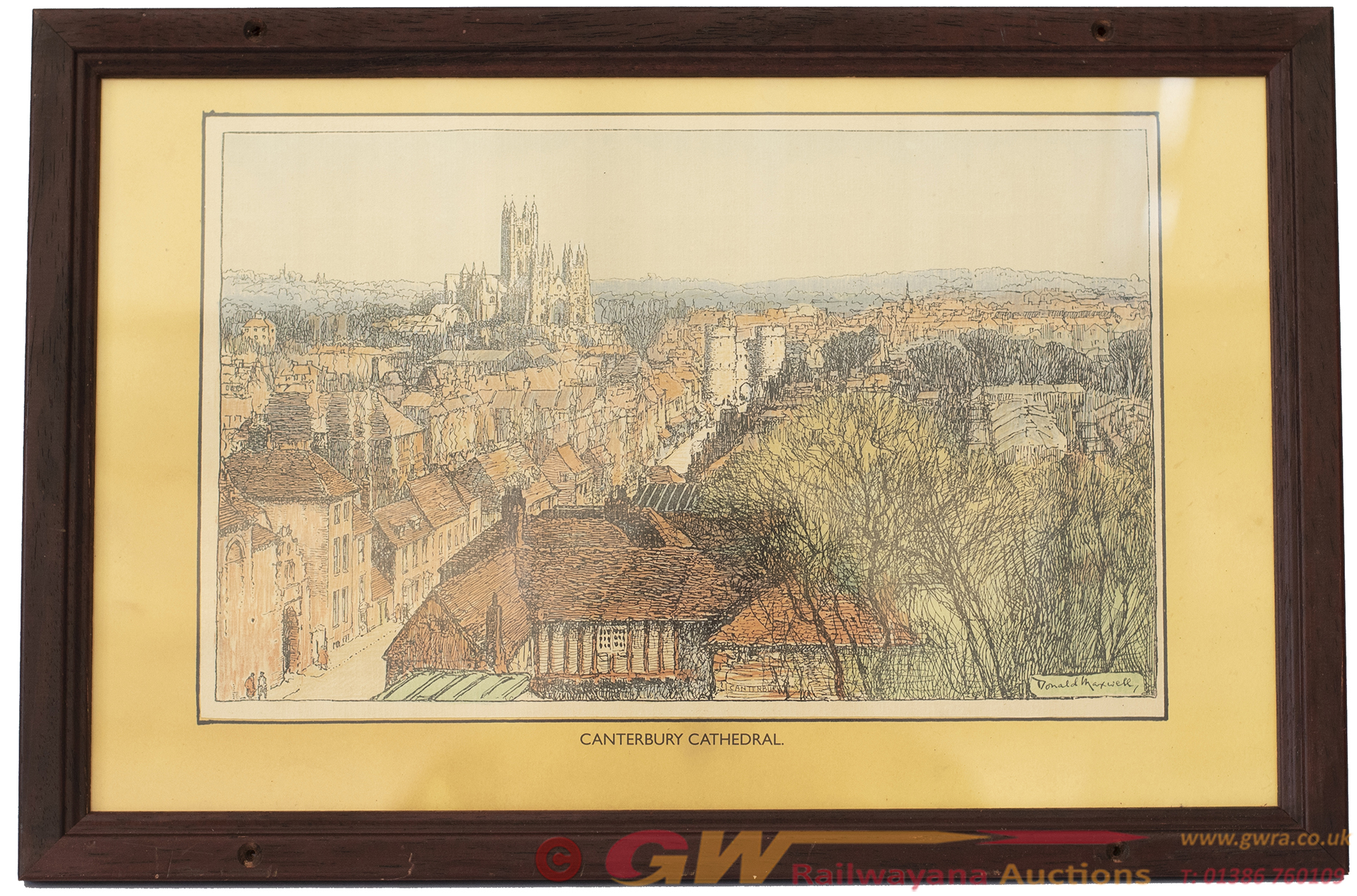 Carriage Print CANTERBURY CATHEDRAL, KENT By