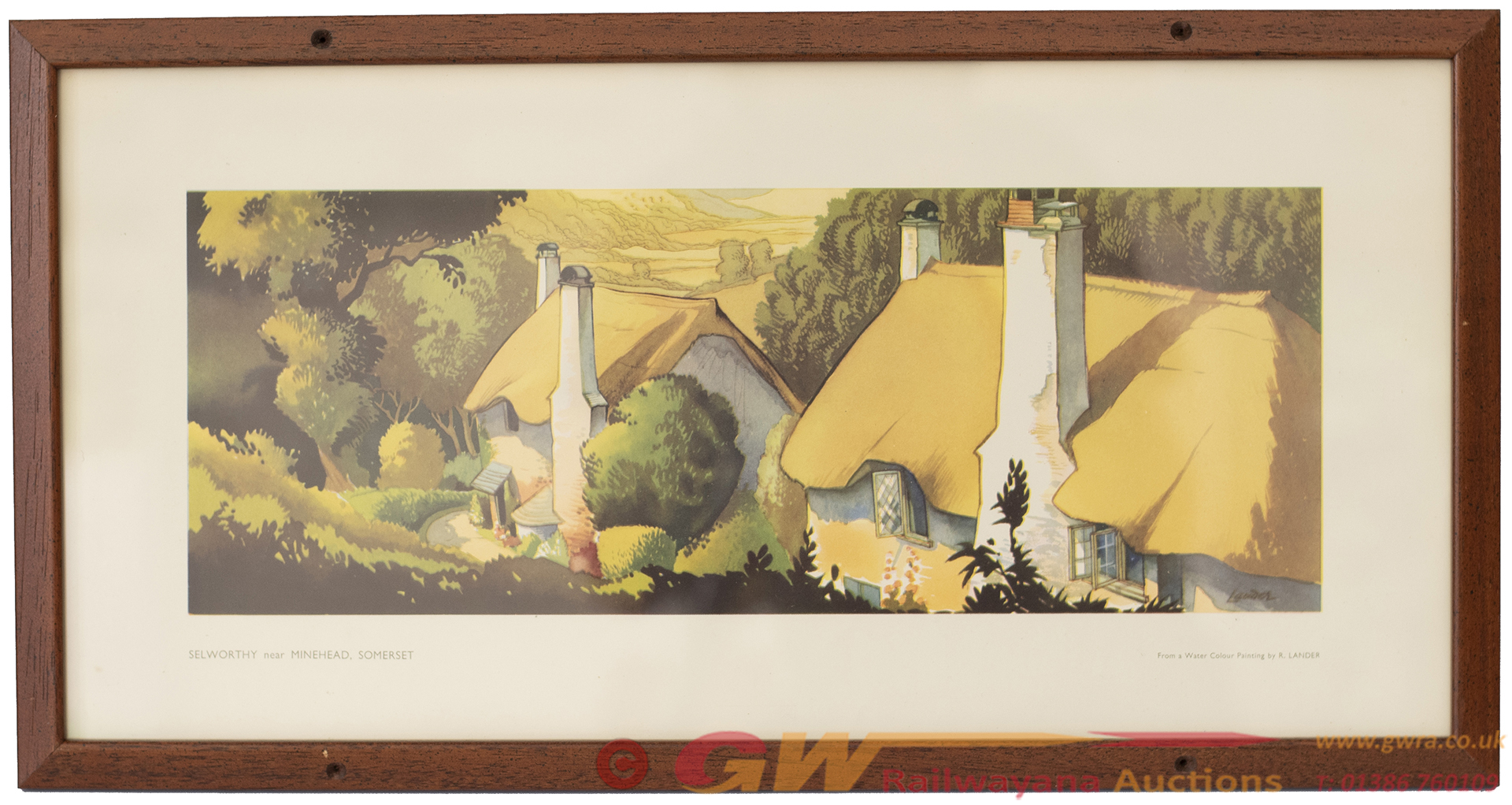 Carriage Print SELWORTHY, NR MINEHEAD, SOMERSET By