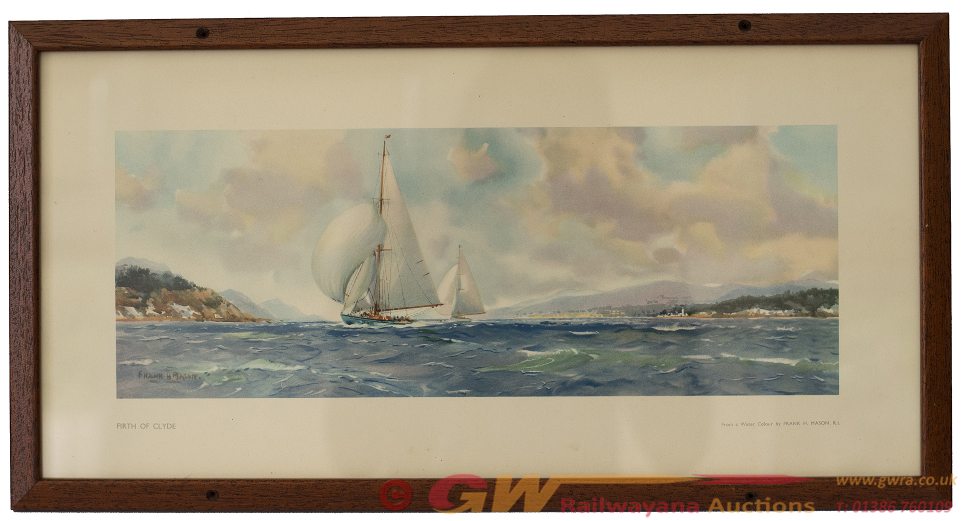 Carriage Print FIRTH OF CLYDE By Frank H Mason