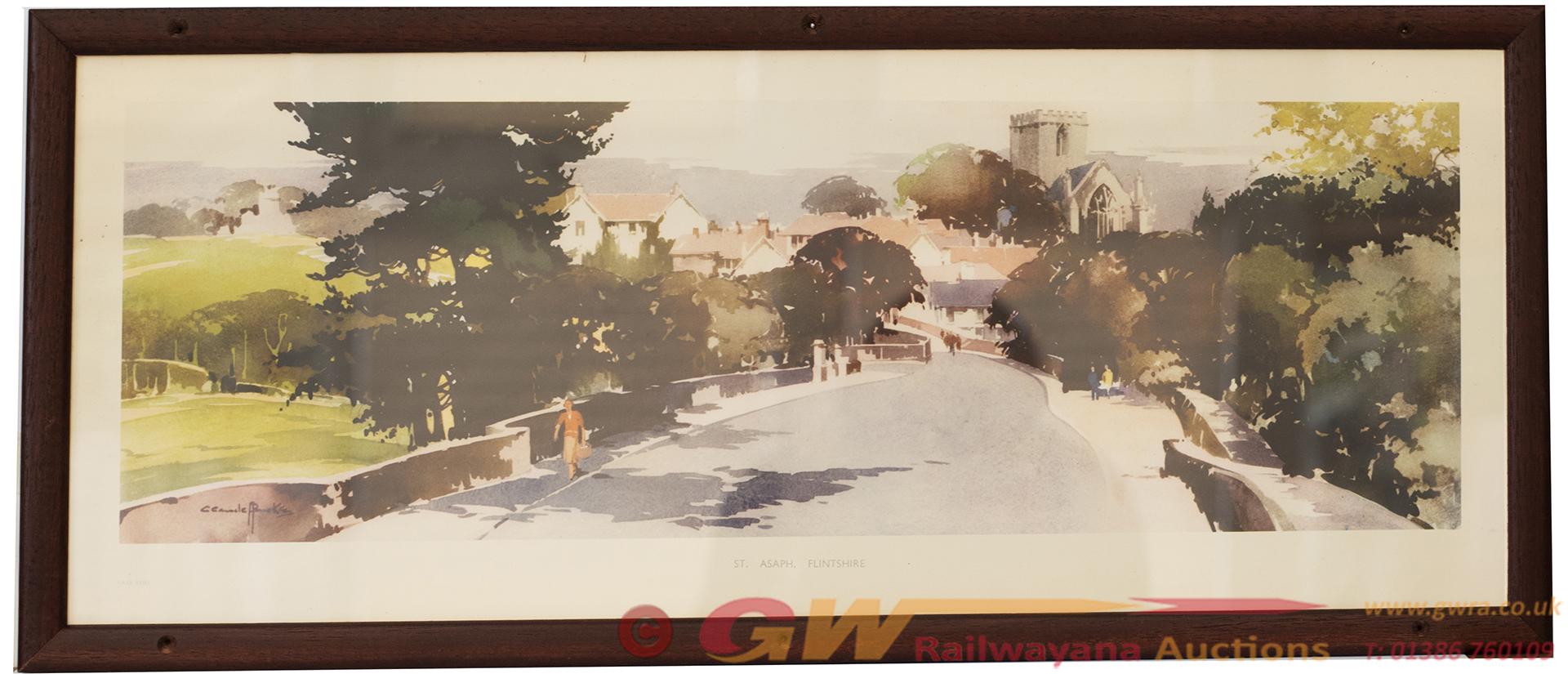Carriage Print ST ASAPH, FLINTSHIRE By Claude