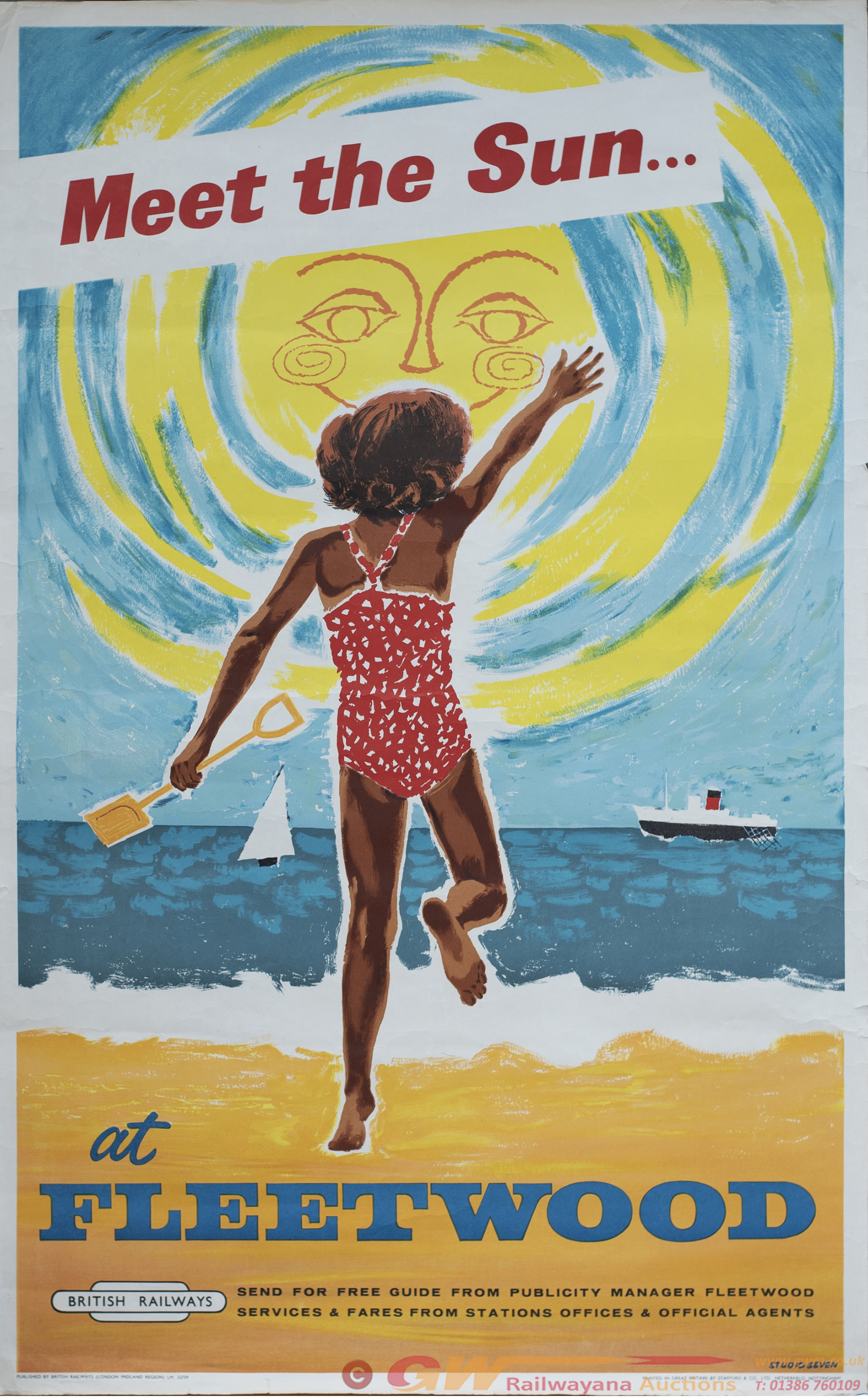 Poster BR(M) MEET THE SUN AT FLEETWOOD By Studio