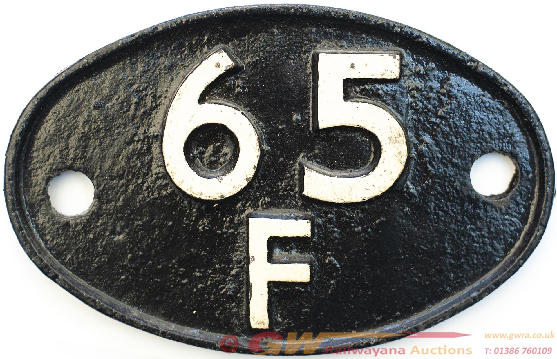 Shedplate 65f Grangemouth 1950-1973. Face