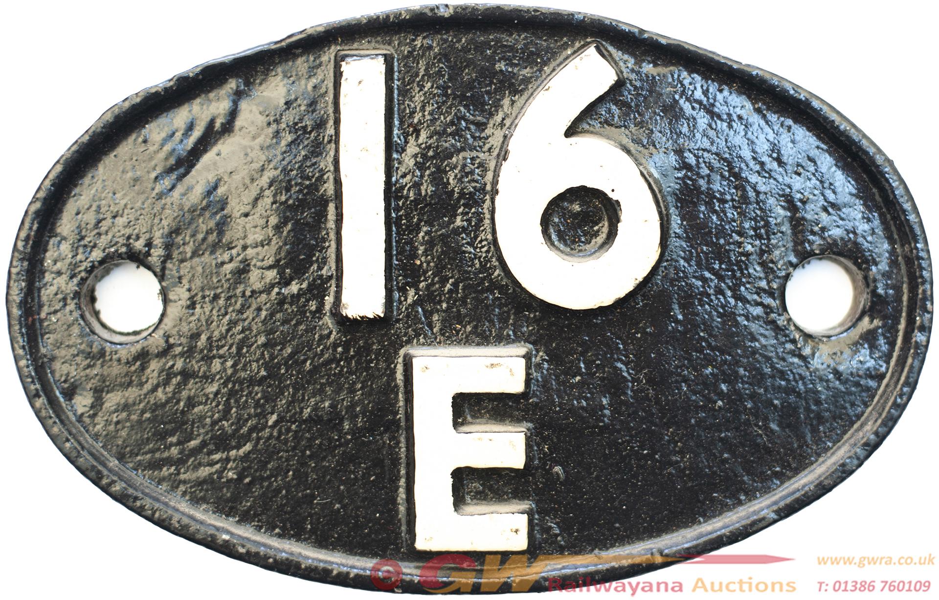 Shedplate 16e Kirkby-In-Ashfield 1963-1966. Face