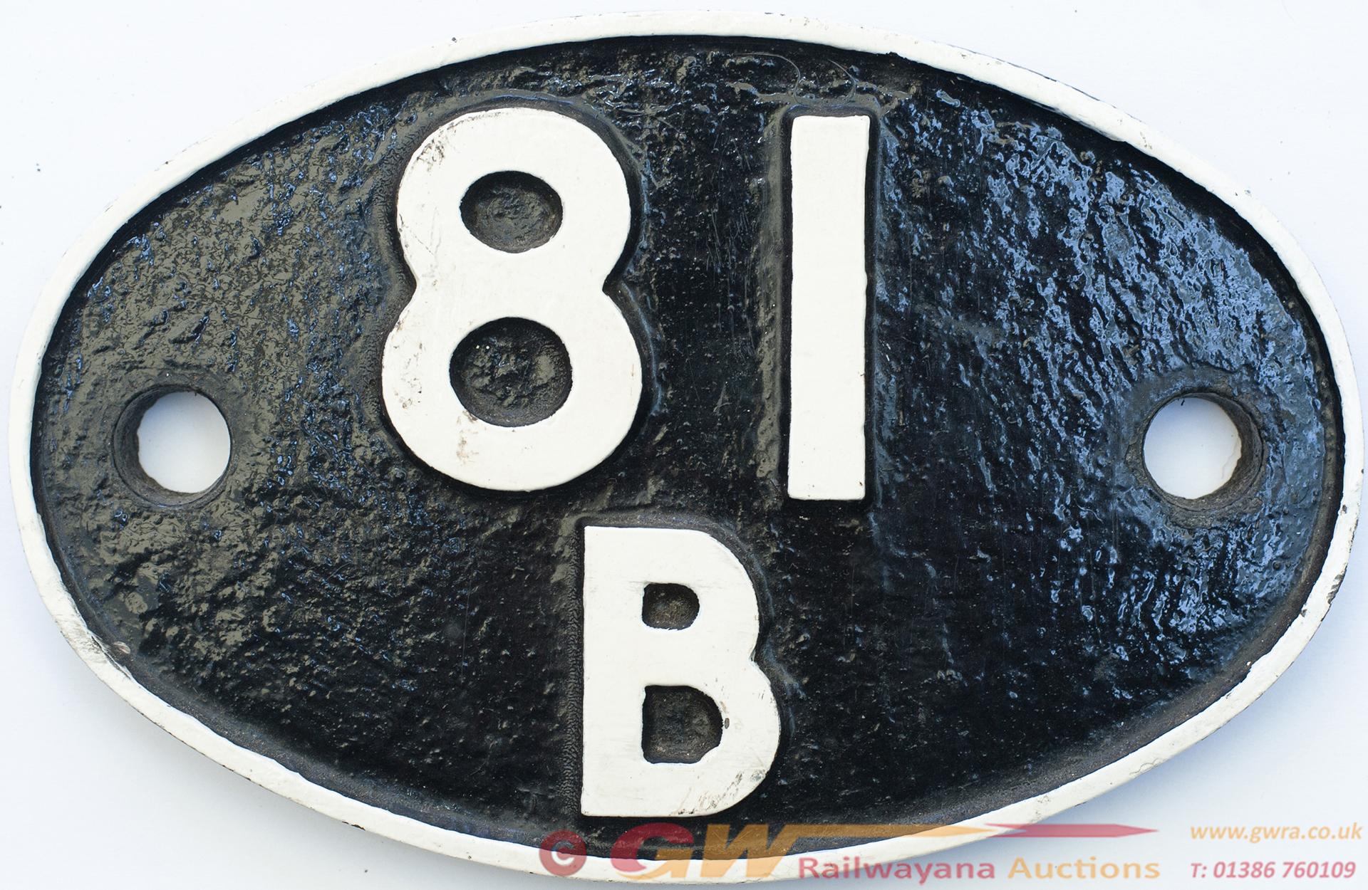 Shedplate 81b Slough 1950-1964 With Sub Sheds