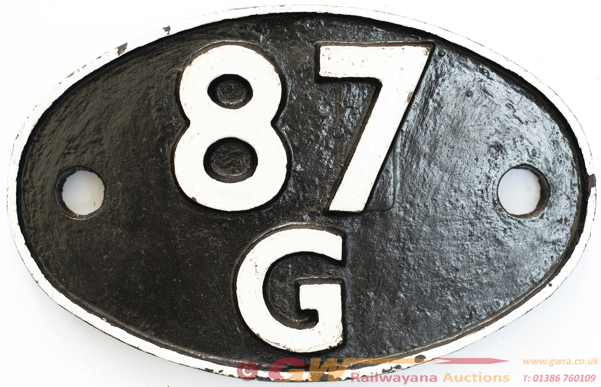 Shedplate 87g Carmarthen 1950-1964 With A Sub Shed
