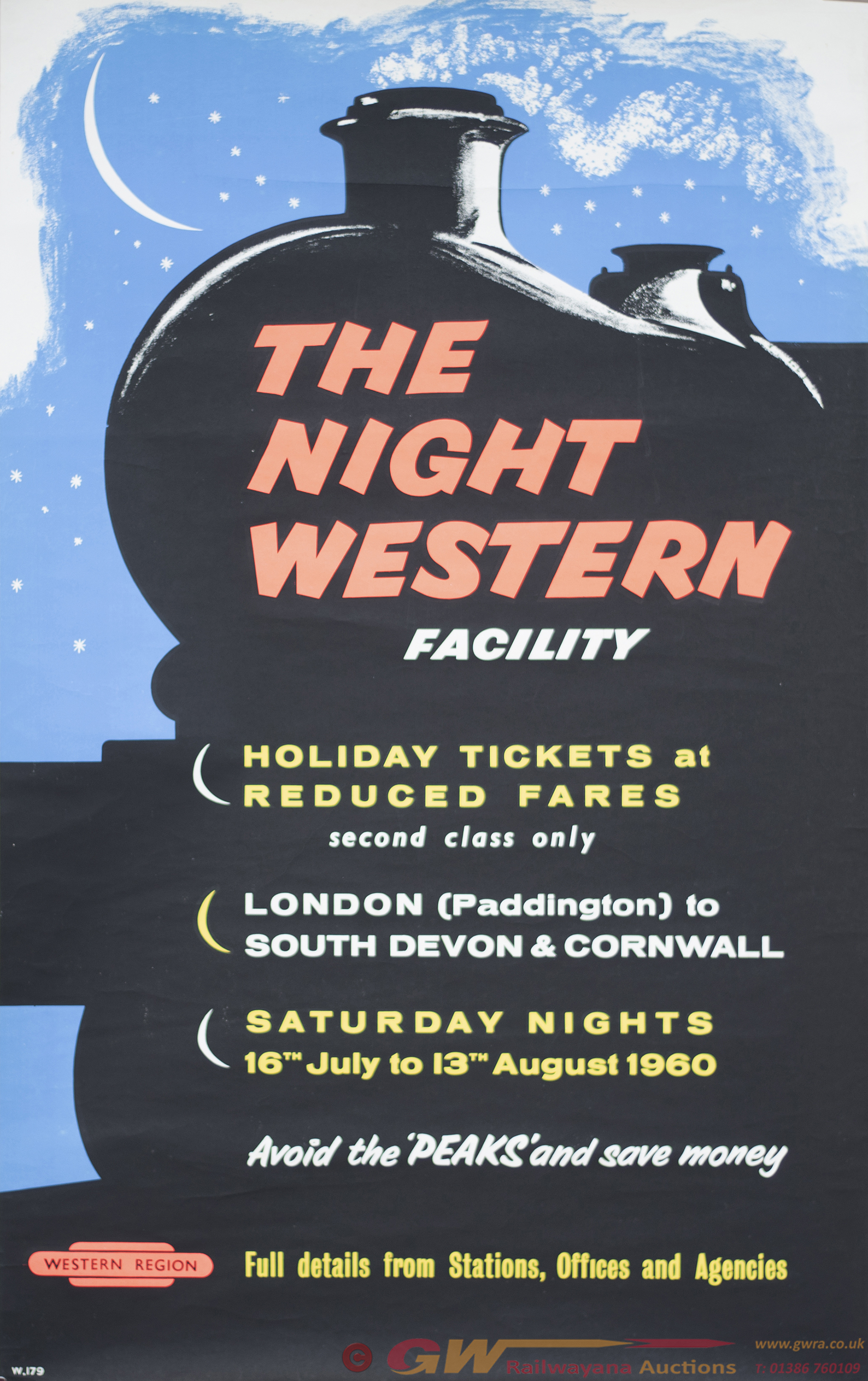 Poster BR(W) THE NIGHT WESTERN FACILITY AVOID THE
