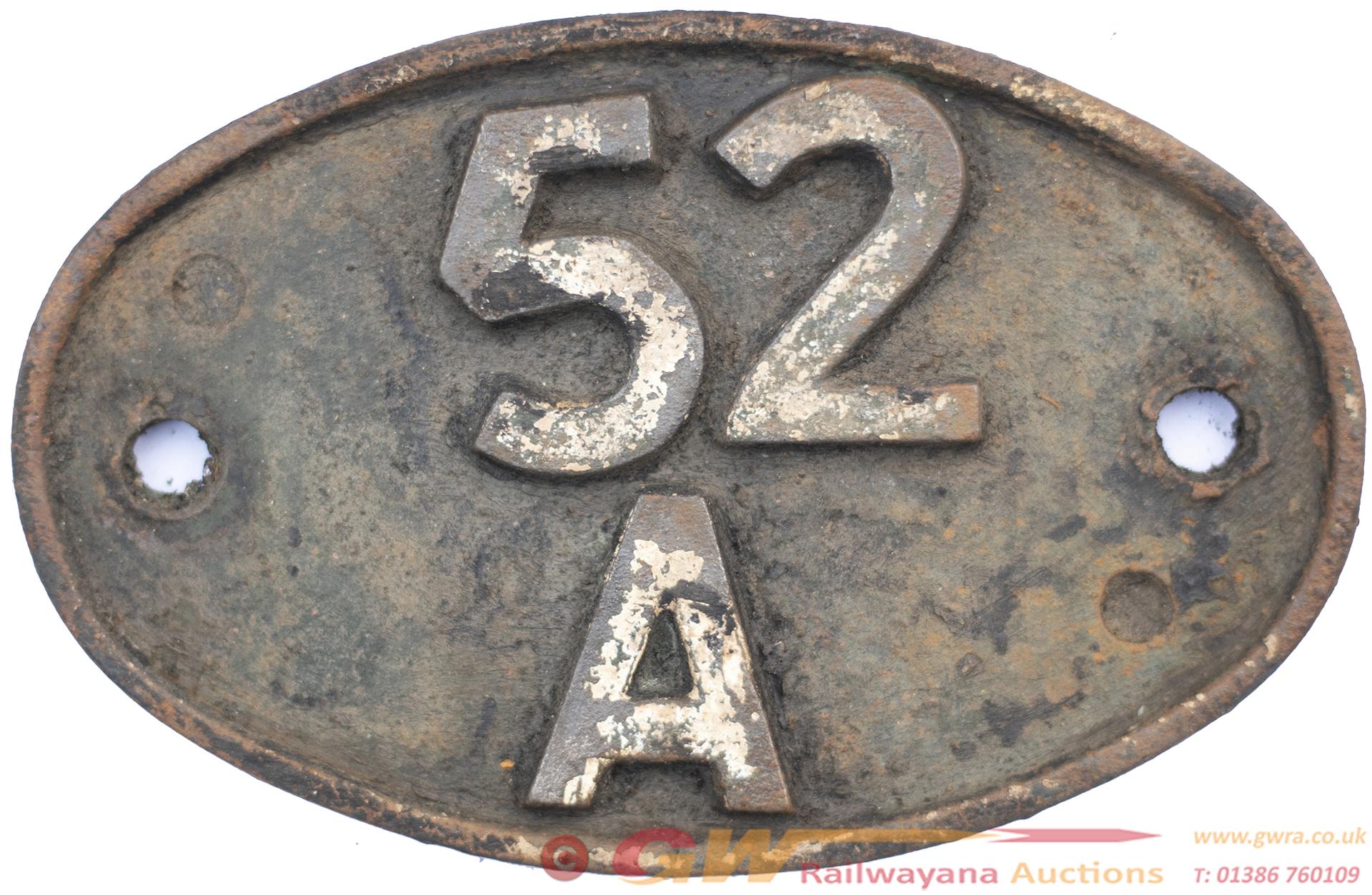 Shedplate 52a Gateshead 1950-1973. In Lightly