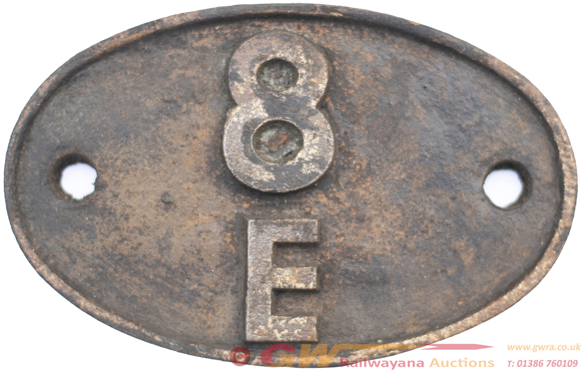 Shedplate 8e Northwich 1958-1968. In Lightly
