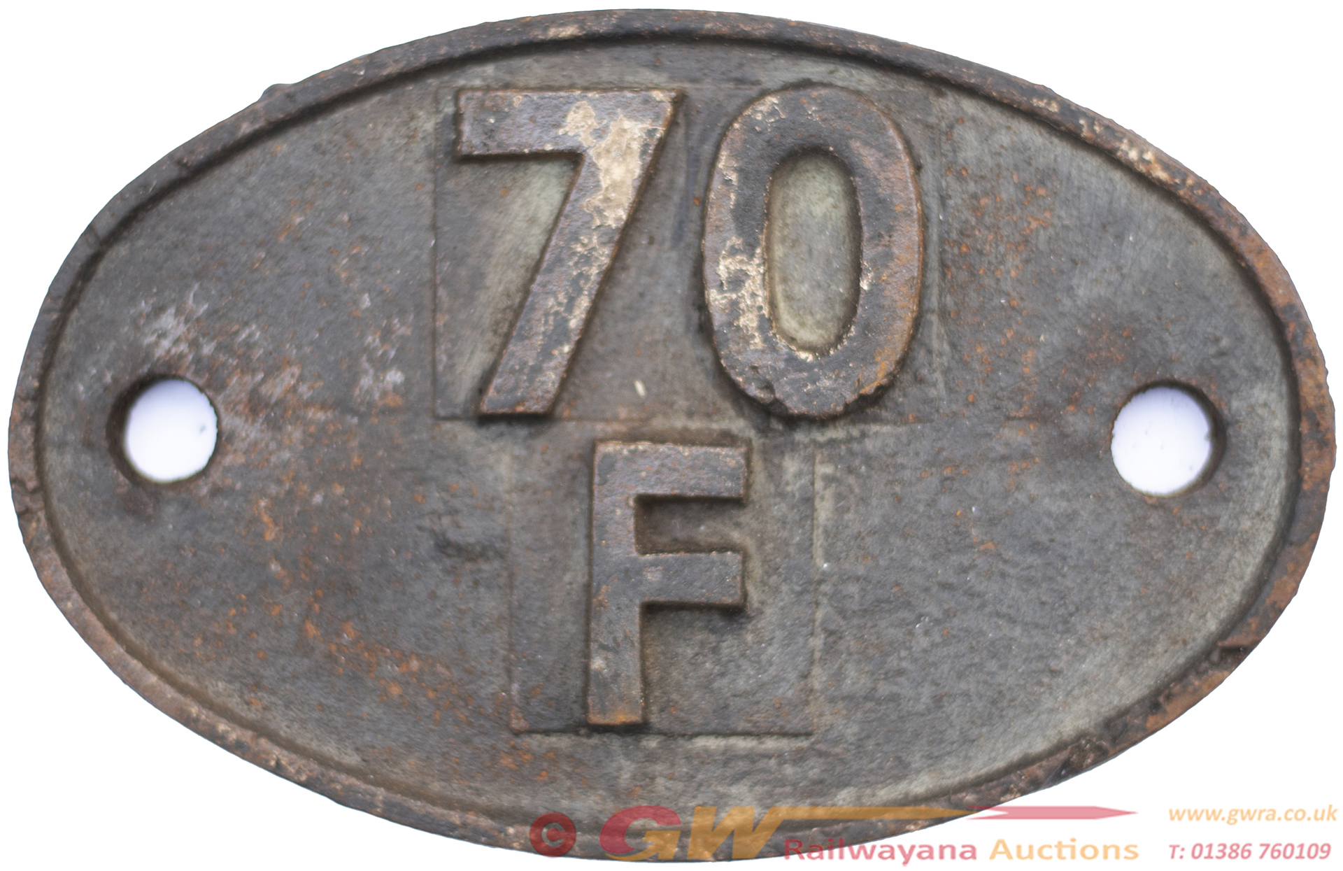 Shedplate 70f Bournemouth 1963-1973. In Lightly