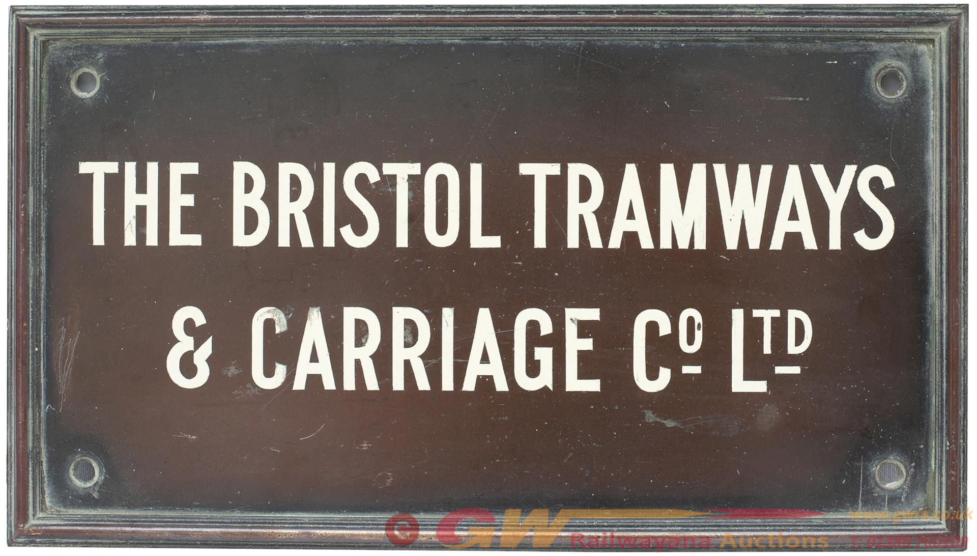 Bus Motoring Bronze Plaque THE BRISTOL TRAMWAYS &
