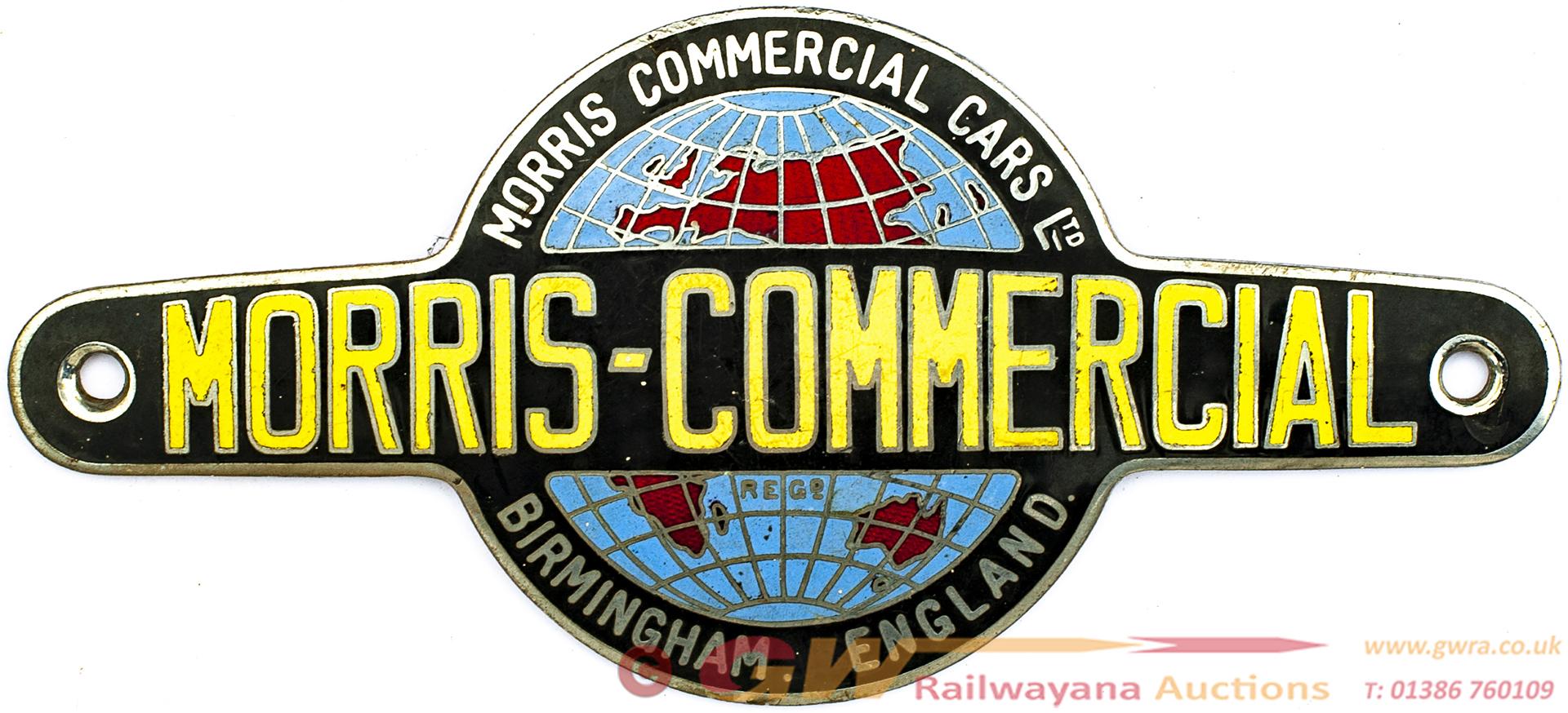 Morris Commercial Radiator Badge MORRIS COMMERCIAL