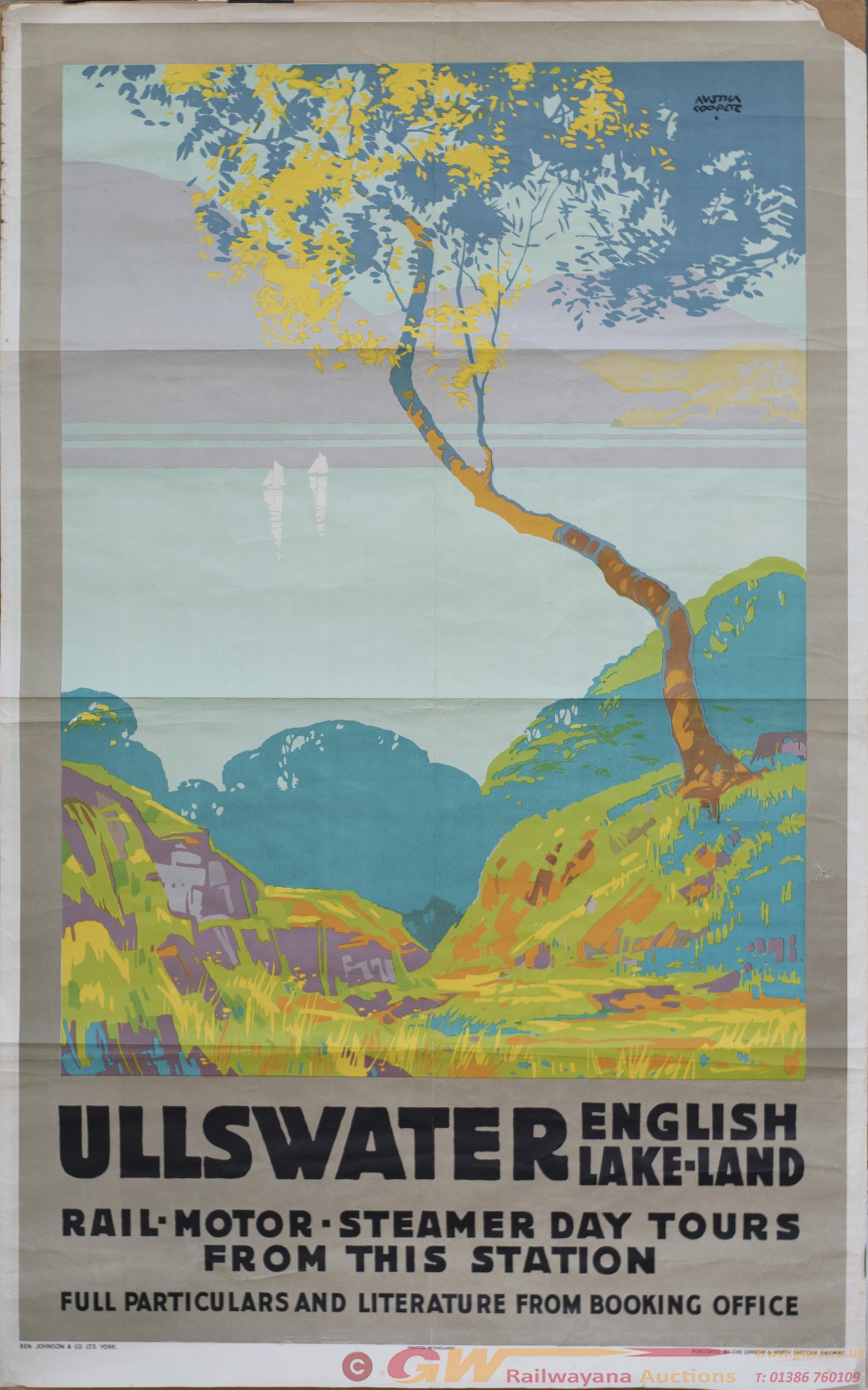 Poster LNER ULLSWATER ENGLISH LAKELAND By Austin