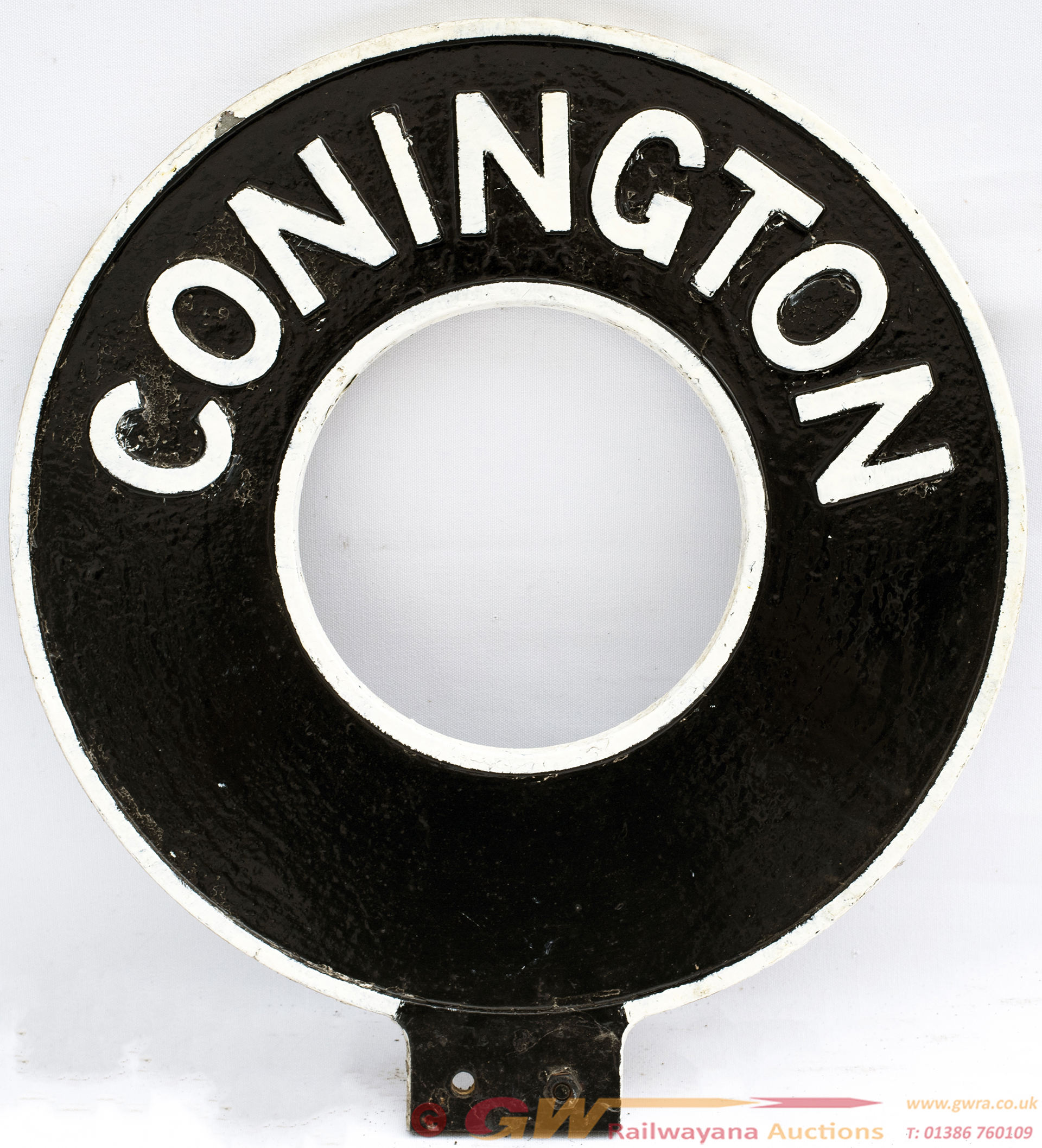 Motoring Road Sign CONNINGTON. Double Sided Cast