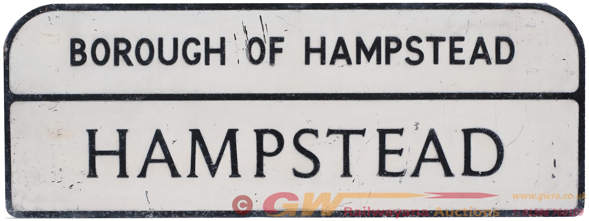 Motoring Road Street Sign BOROUGH OF HAMPSTEAD