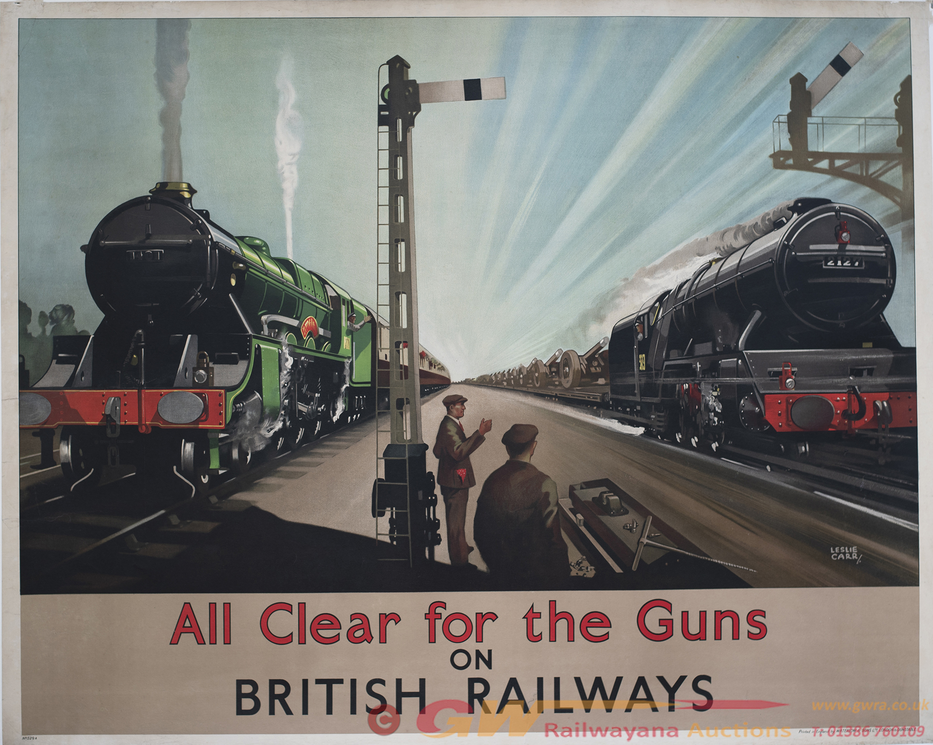 Poster BIG 4 ww2 ALL CLEAR FOR THE GUNS ON BRITISH