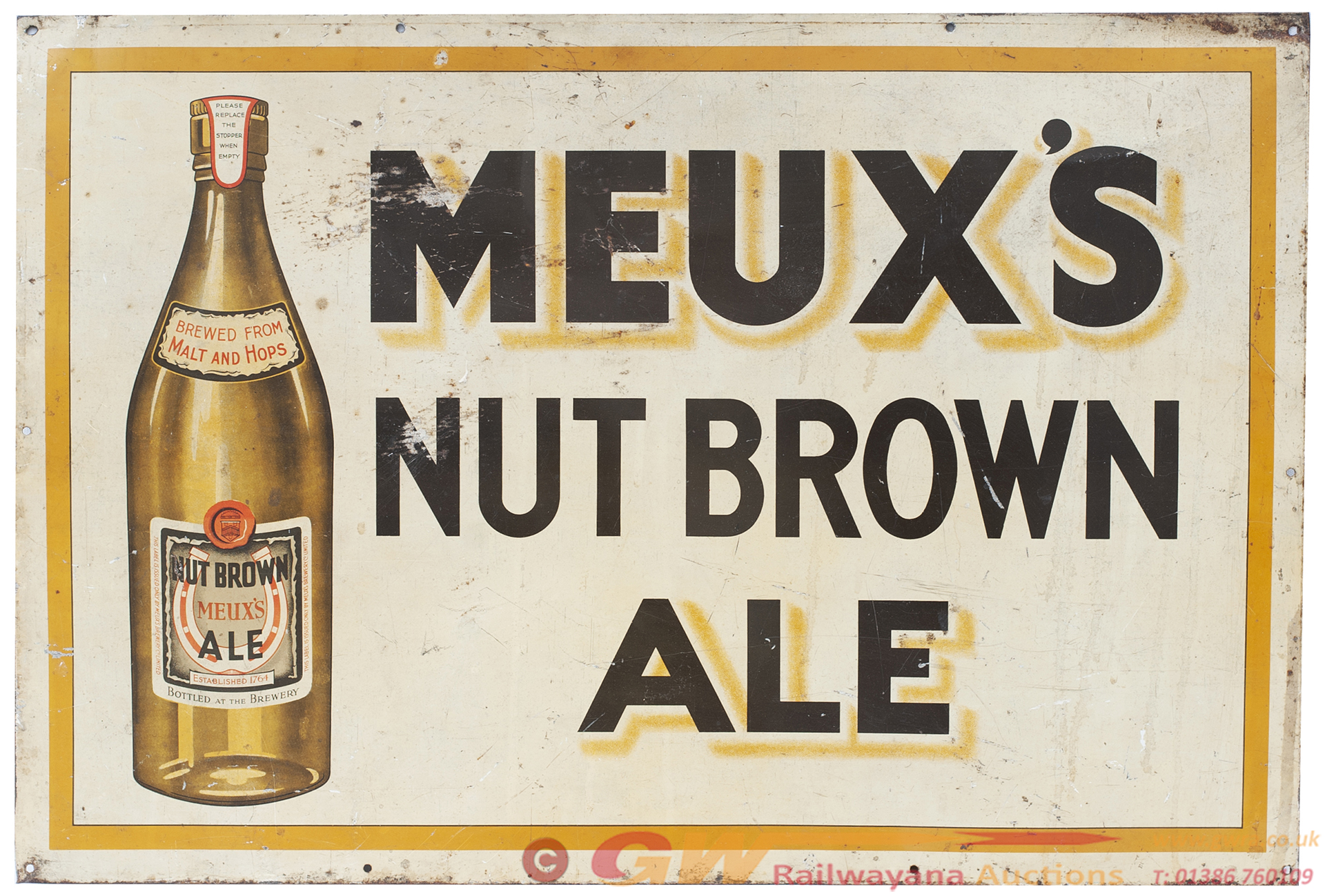 Advertising Sign MEUX'S NUT BROWN ALE. Screen