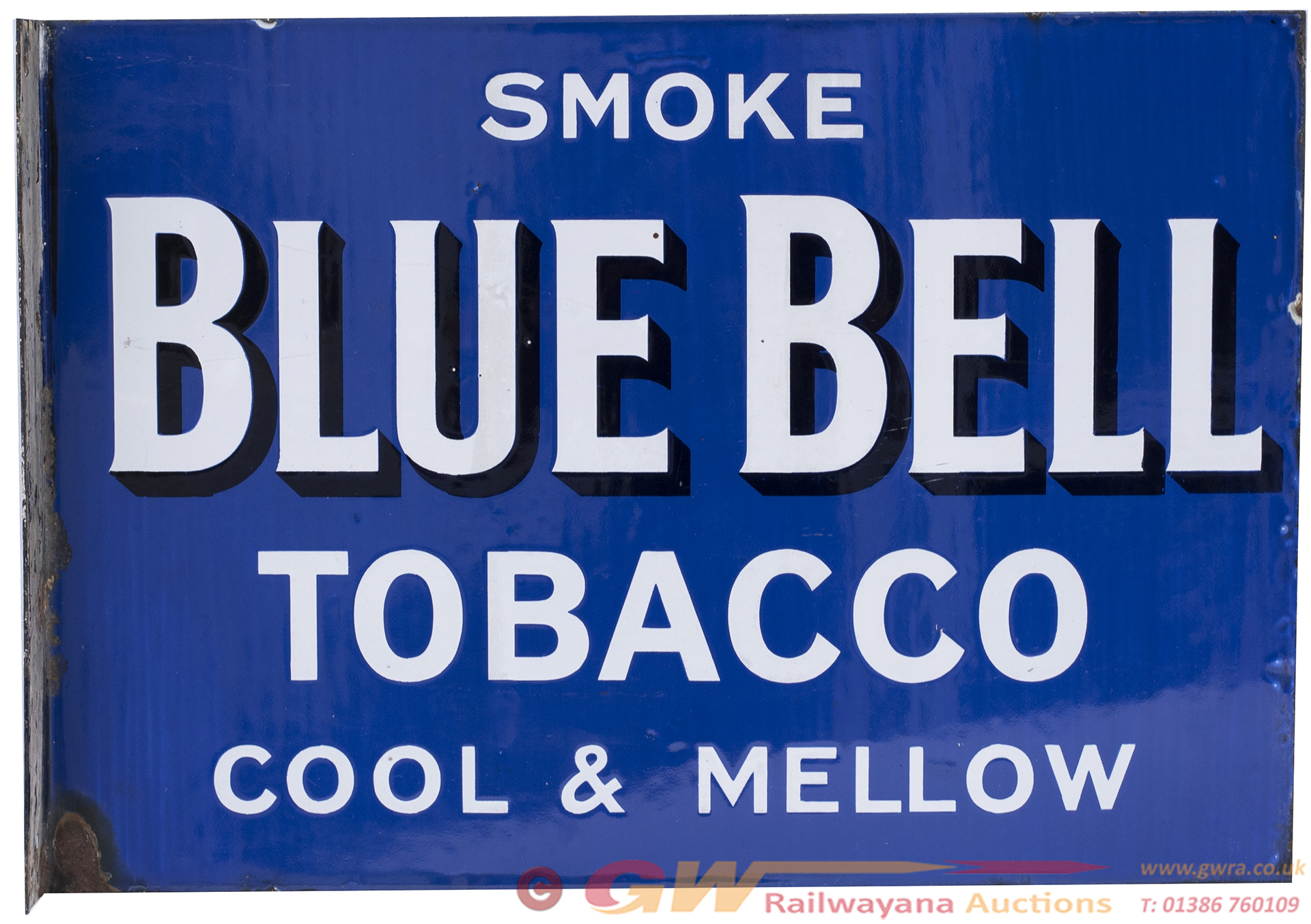 Advertising Enamel Sign SMOKE BLUE BELL TOBACCO