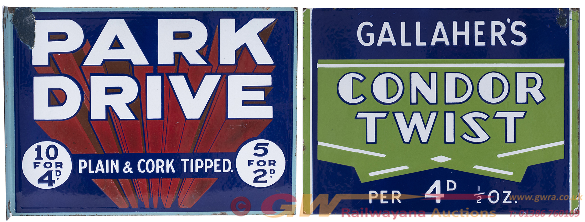 Advertising Enamel Double Sided Sign PARK DRIVE 10