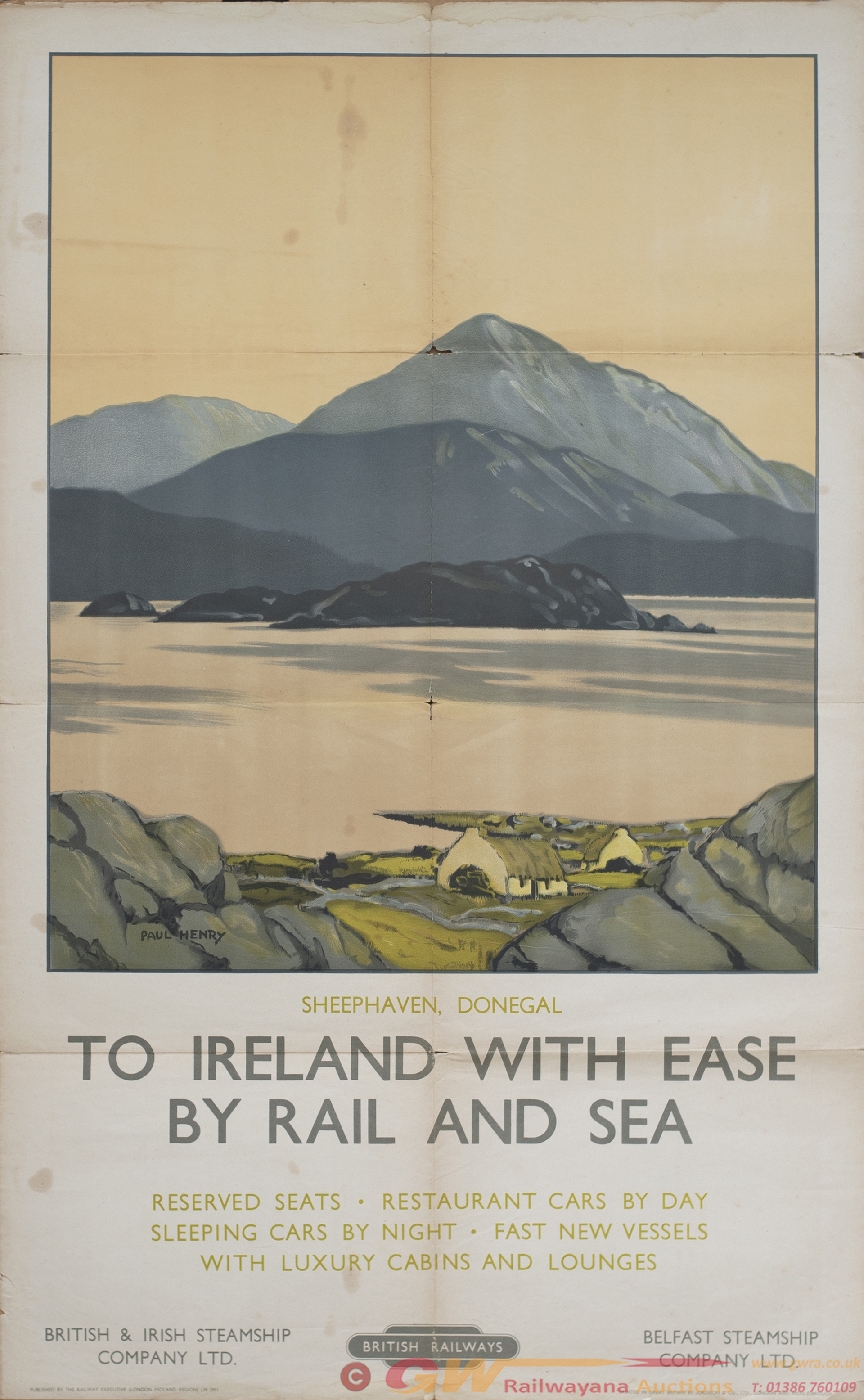 Poster BR(M) TO IRELAND WITH EASE BY RAIL AND SEA