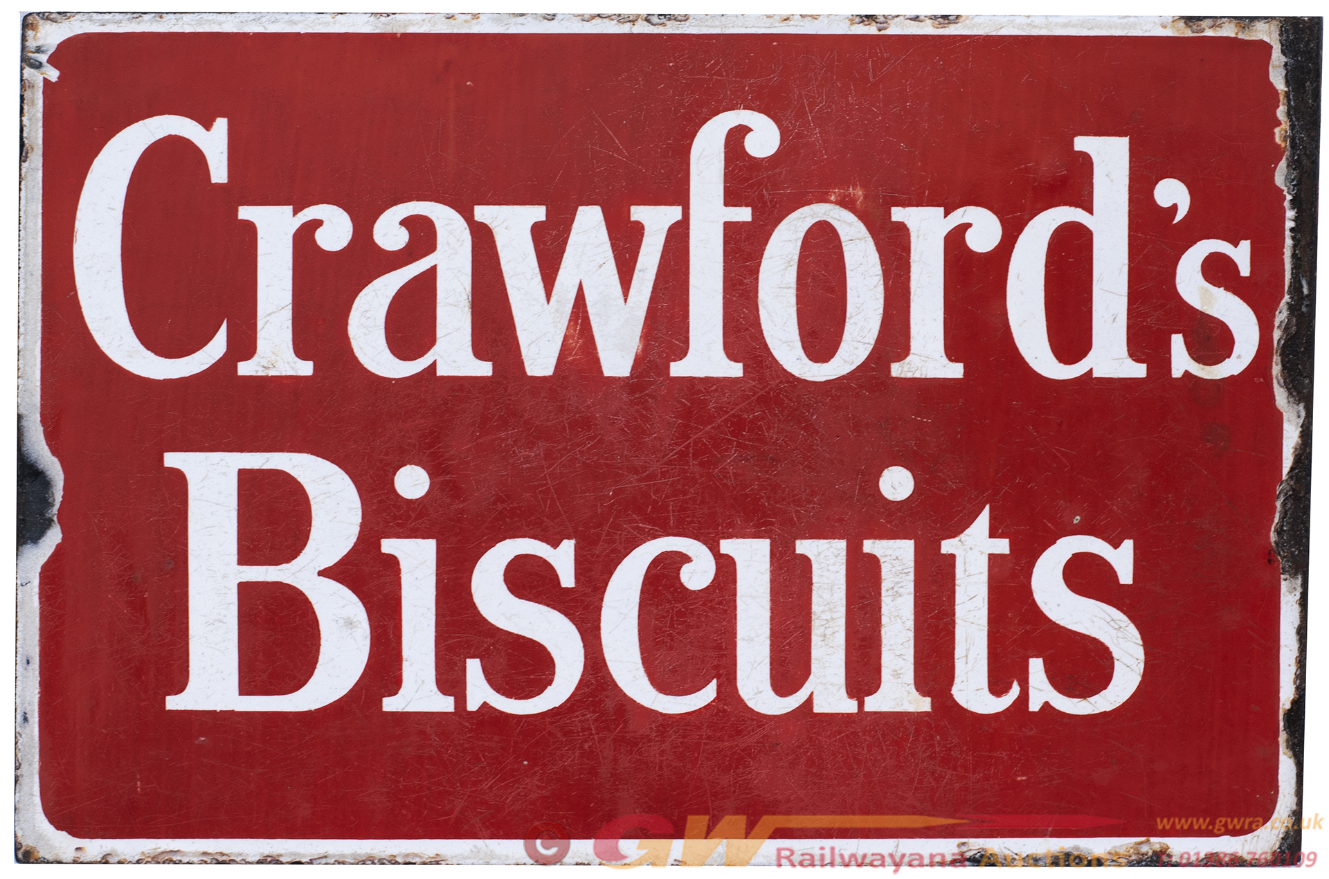 Advertising Enamel Sign CRAWFORD'S BISCUITS,