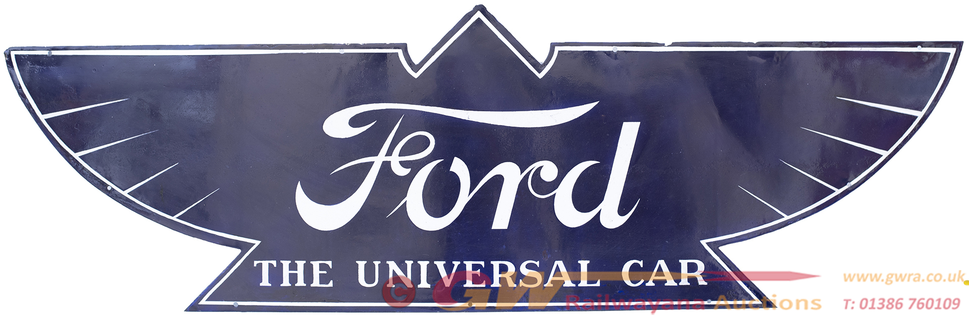 Advertising Enamel Sign FORD THE UNIVERSAL CAR