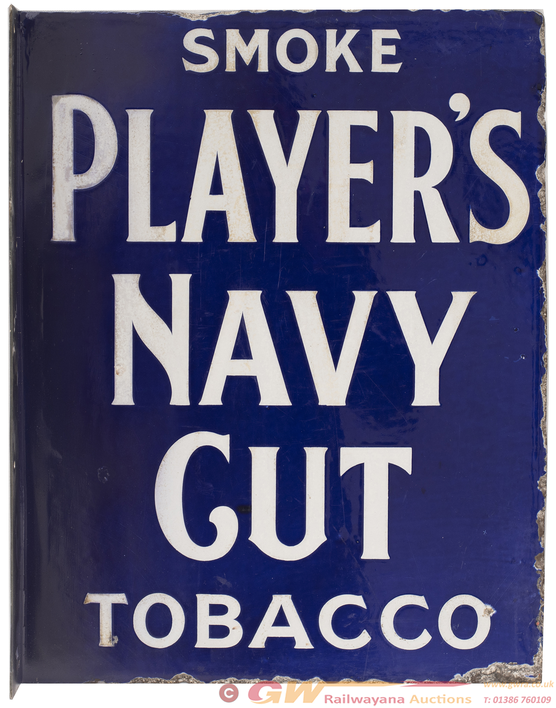 Advertising Double Sided Enamel Sign; PLAYER'S