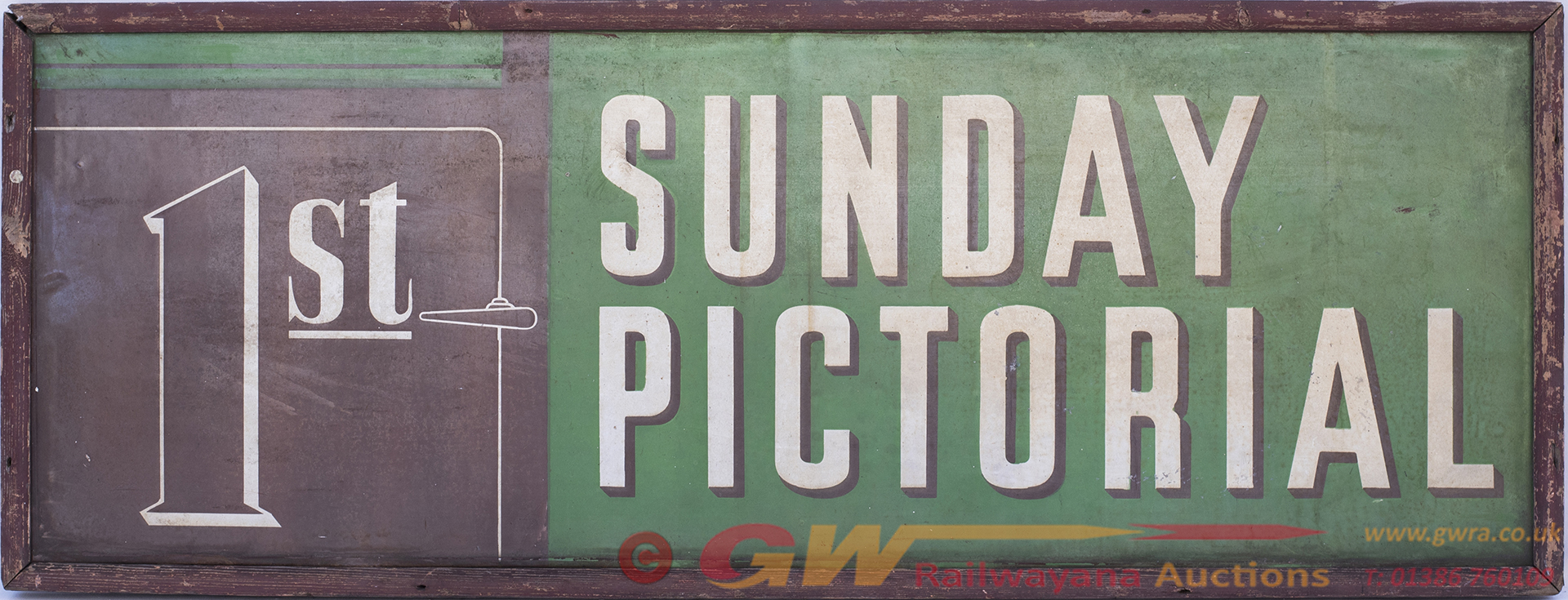 Advertising Enamel Sign 1st SUNDAY PICTORIAL In