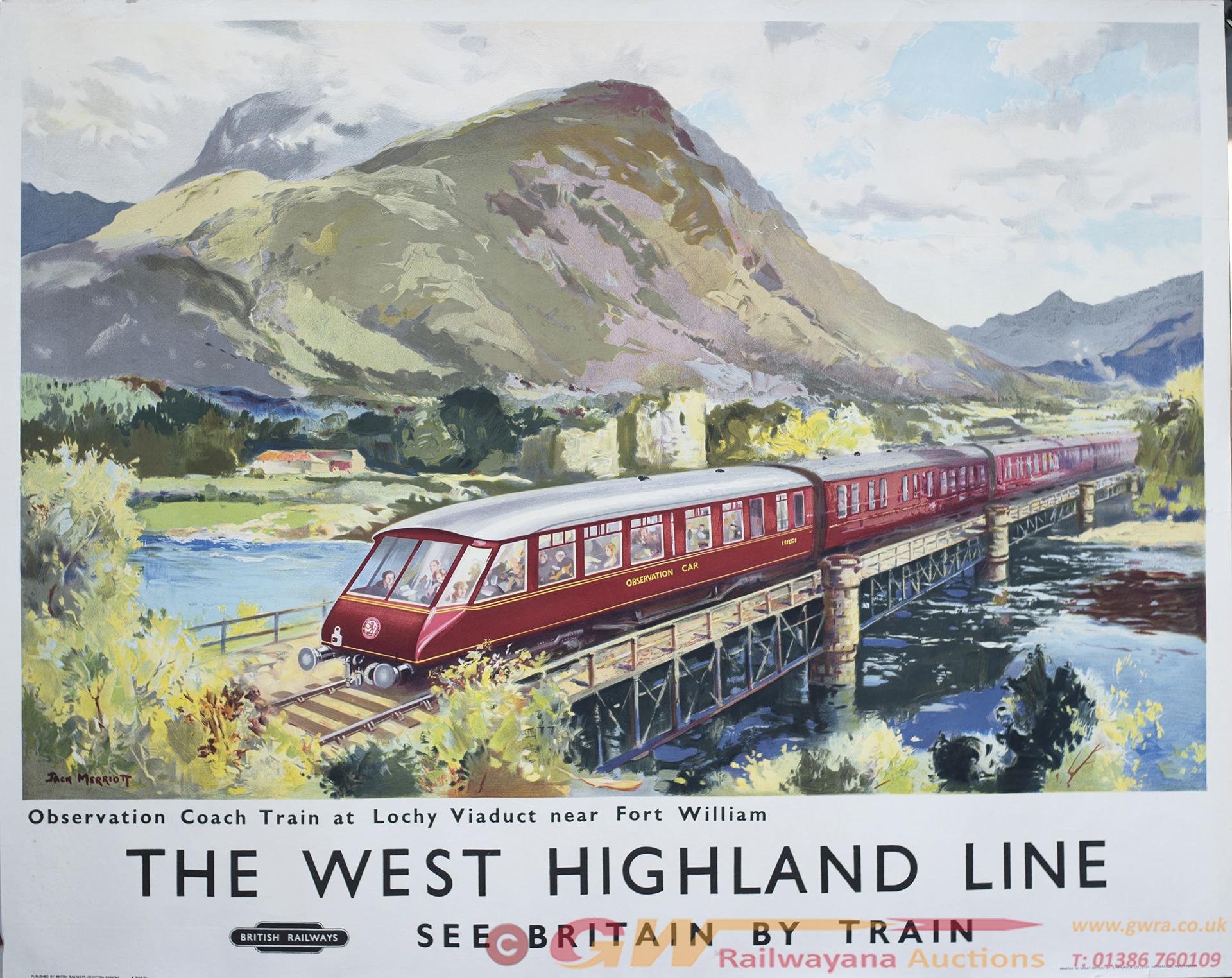 Poster BR(SC) THE WEST HIGHLAND LINE OBSERVATION
