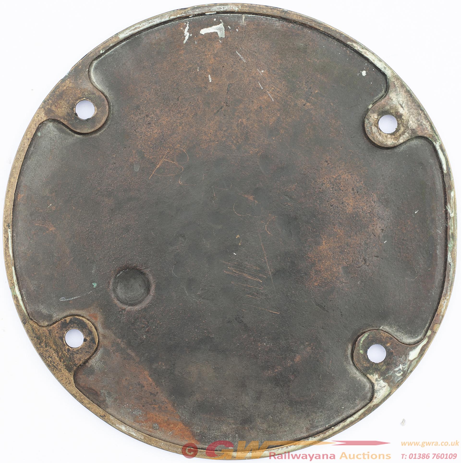 Brass Cabside Plate KPEV (Koniglich Preubische