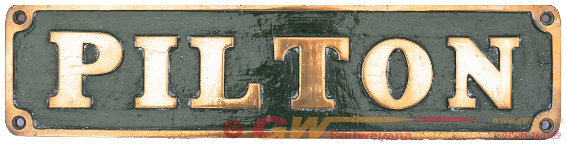 Nameplate PILTON Ex 0-6-0st Built By Avonside