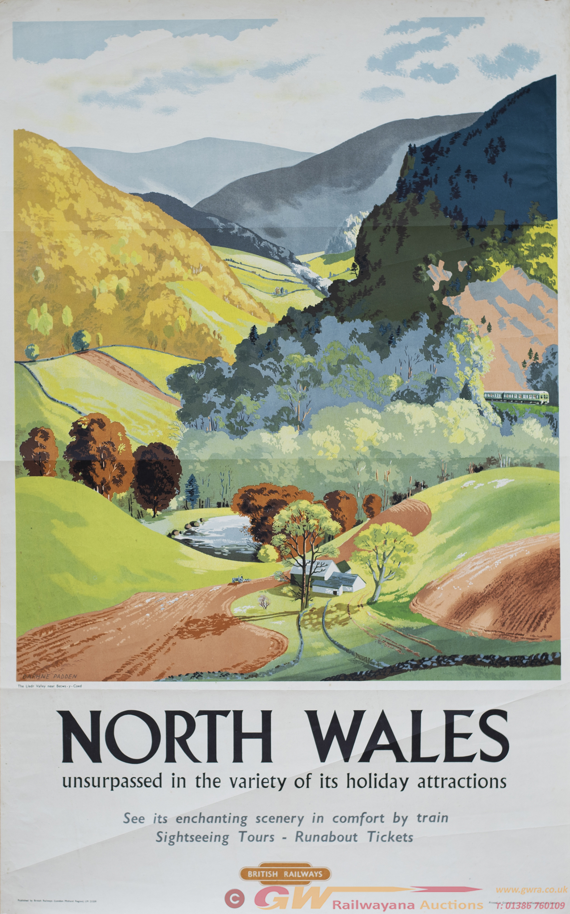 Poster BR(M) NORTH WALES THE LLEDR VALLEY NEAR