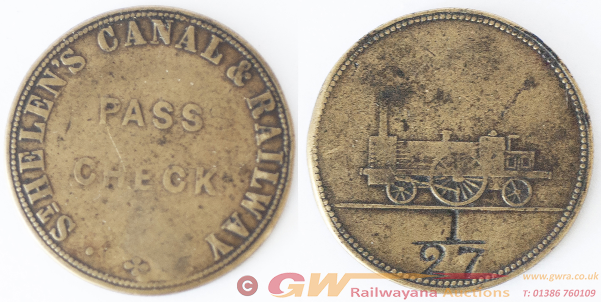 ST HELEN'S CANAL & RAILWAY PASS CHECK 27 From The