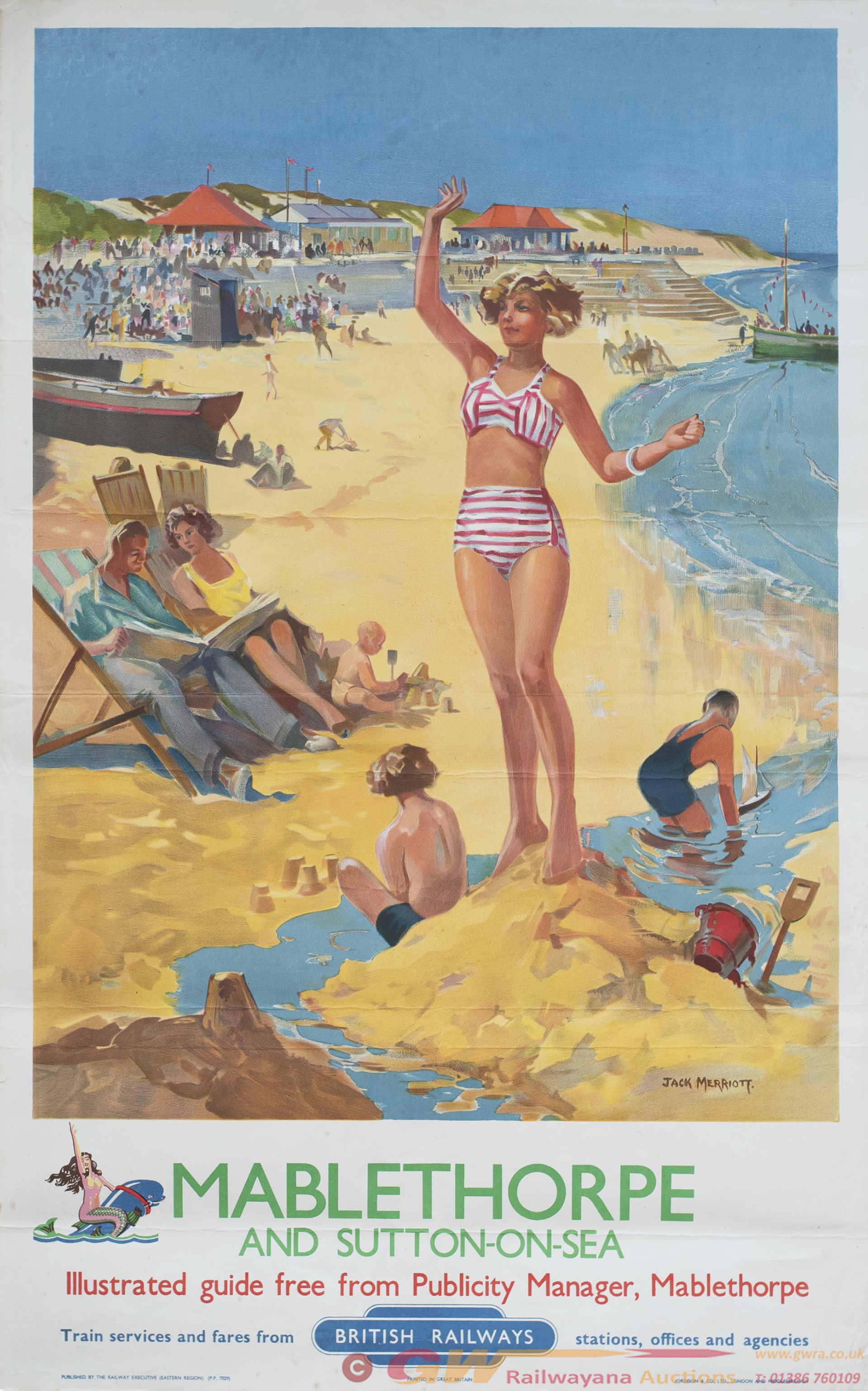 Poster BR(E) MABLETHORPE AND SUTTON-ON-SEA By Jack