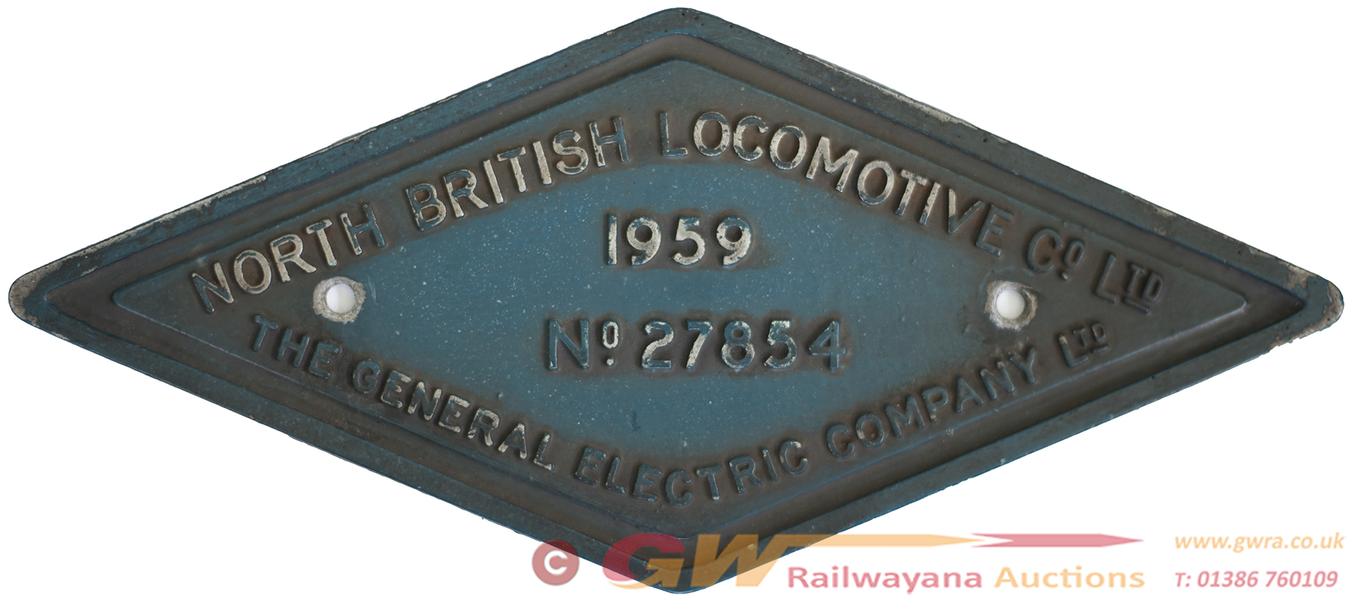 Worksplate NORTH BRITISH LOCOMOTIVE CO LTD THE