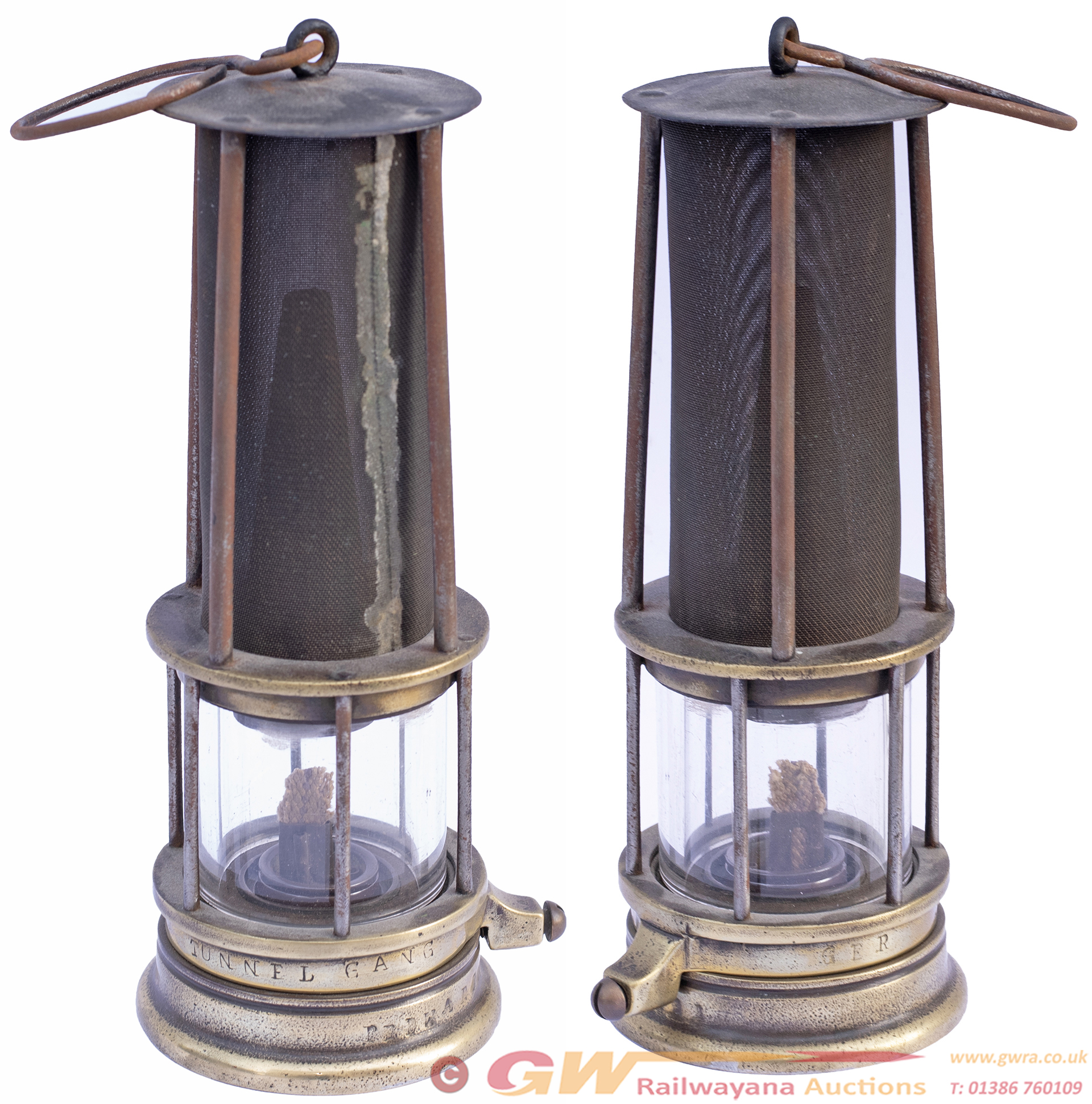 Great Eastern Railway Brass Safety Lamp Stamped