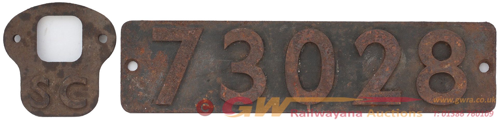 Smokebox Numberplate 73028 Ex British Railways