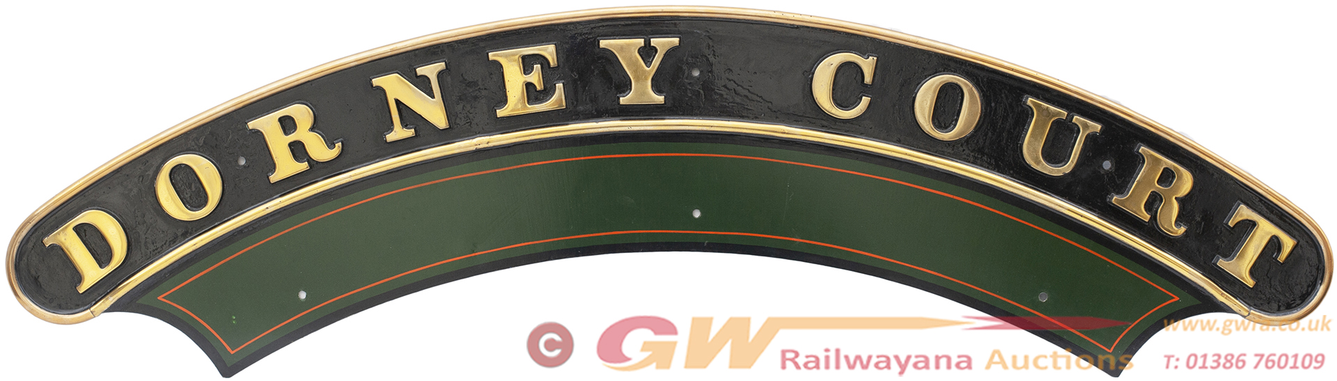 Nameplate DORNEY COURT Ex GWR Churchward Saint