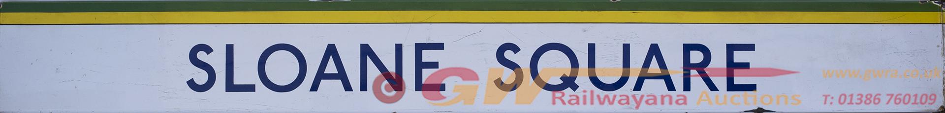 London Underground Enamel Frieze Sign SLOANE