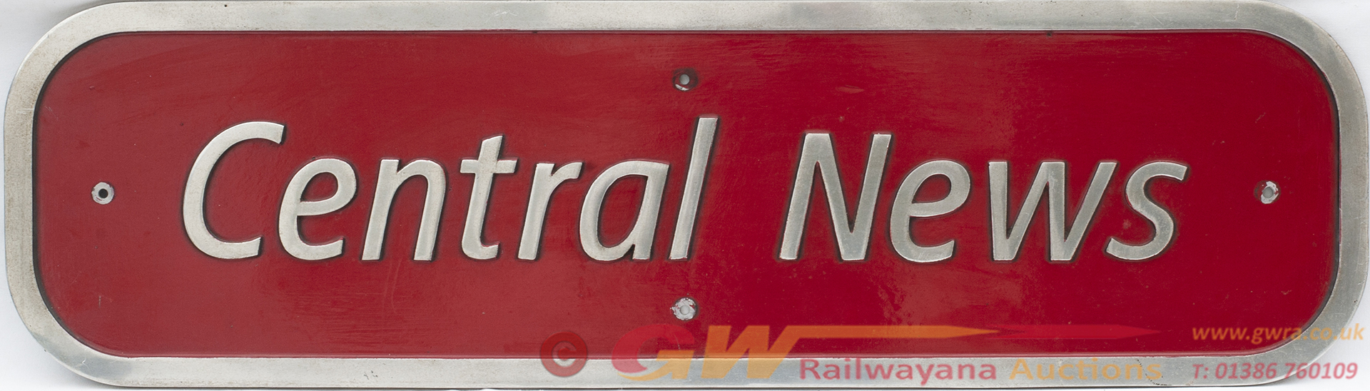 Nameplate CENTRAL NEWS Ex Virgin Voyager Class 220