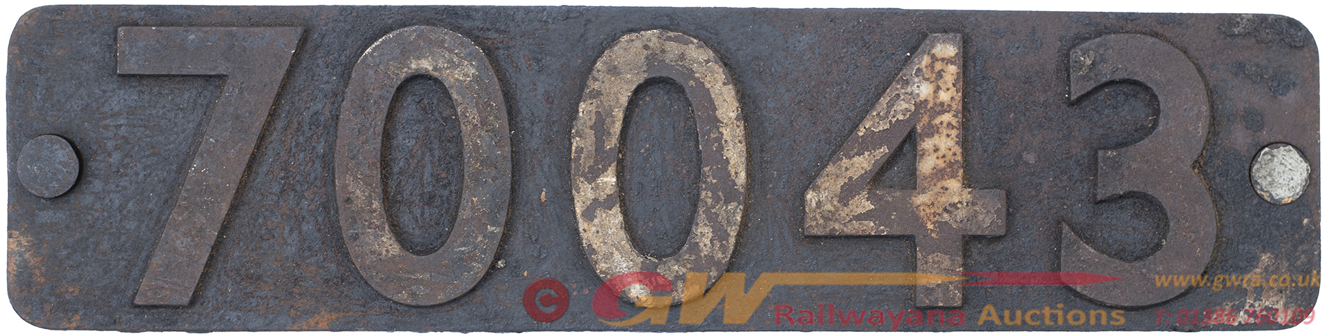 Smokebox Numberplate 70043 Ex BR Riddles STD Class